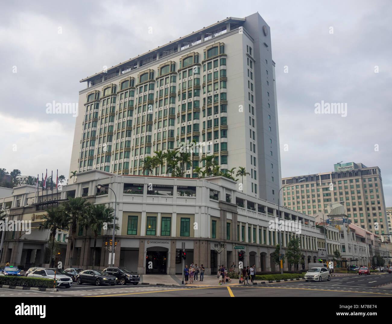 L'hôtel InterContinental situé dans le centre commercial de Bugis Junction, à Singapour. Banque D'Images
