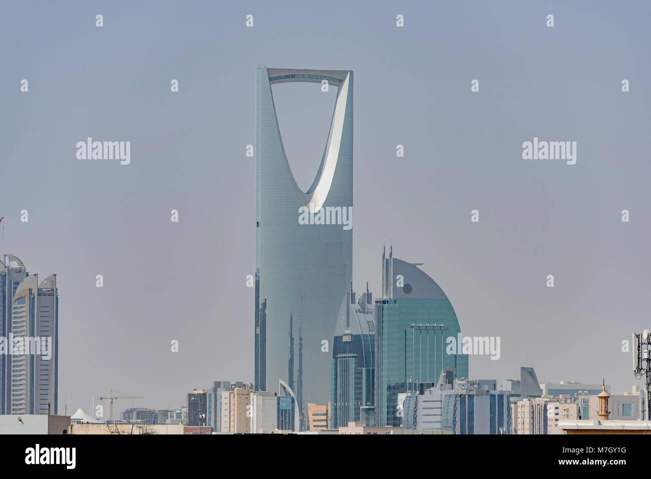 Riyad et les bâtiments à l'horizon. partielle Photo Stock