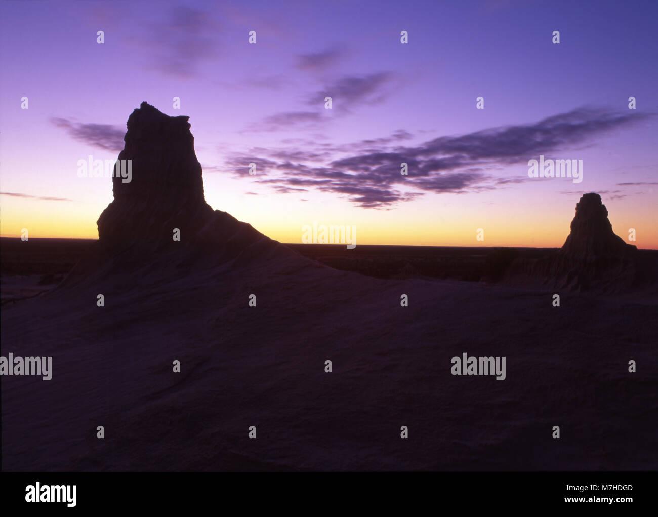 Le Mungo National Park est un parc national protégé qui est situé dans le sud-ouest de la Nouvelle-Galles du Sud, dans l'Est de l'Australie. Banque D'Images