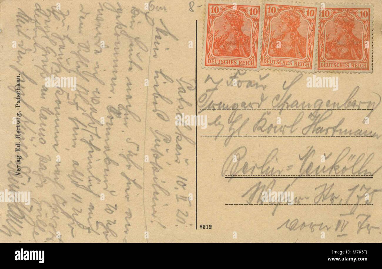 Patschkau - Stadtansicht Schlesien, vom Schlossberg (retour) (Zeno Ansichtskarten) Banque D'Images