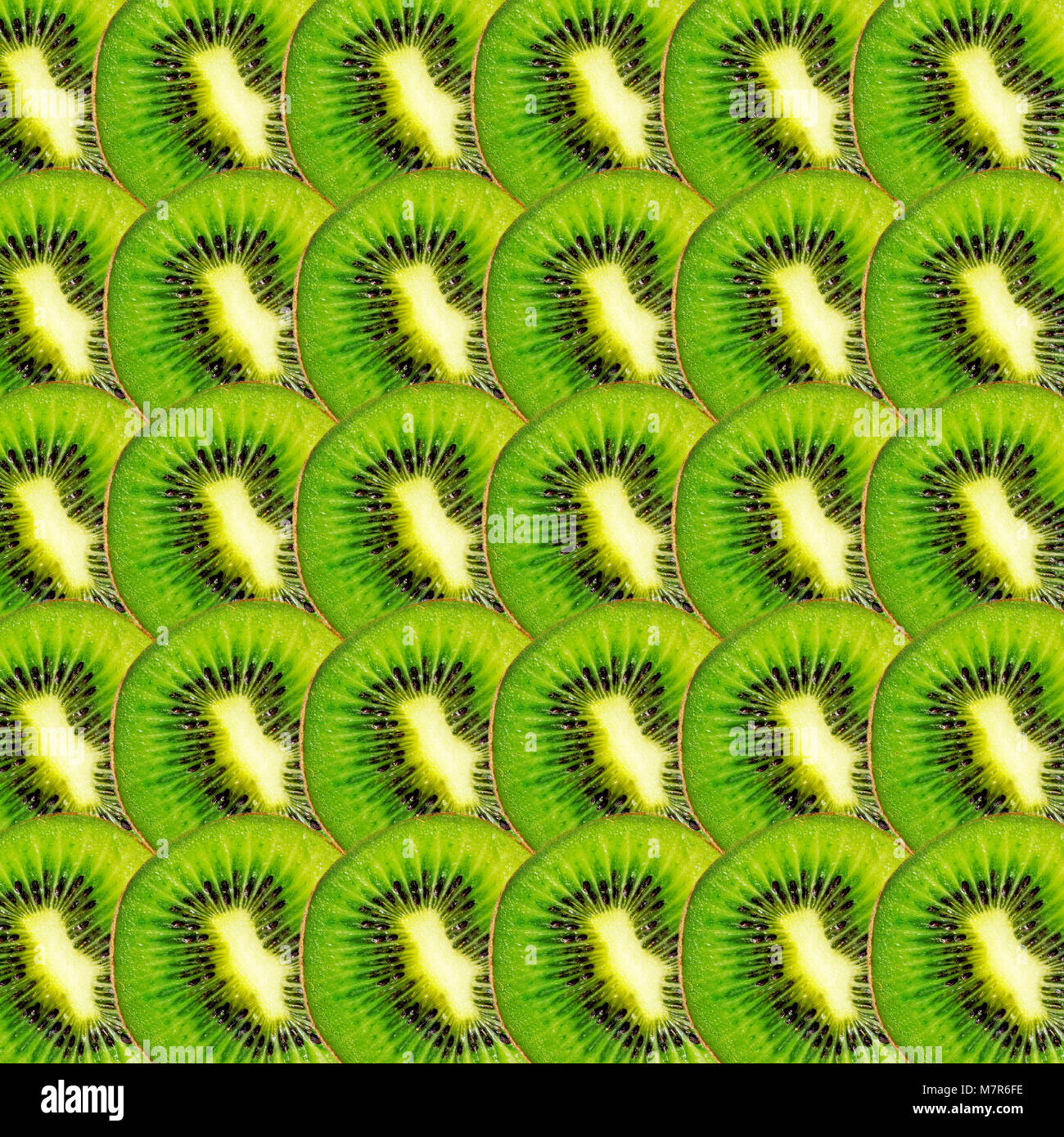 Tranches de kiwi vert, texture de fond alimentaire real photo Banque D'Images