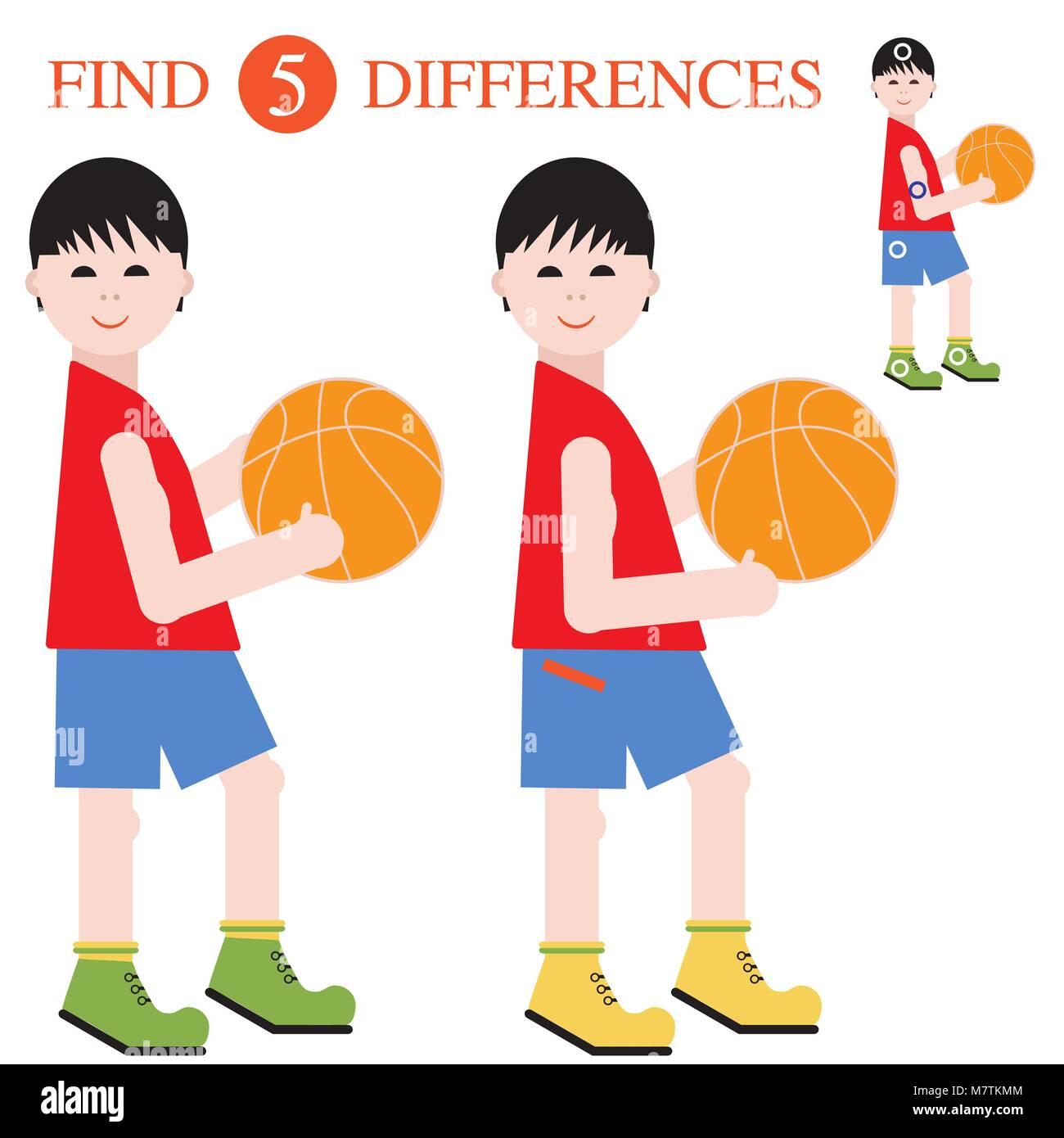 5 De Garçons Les BallonTrouver Joueurs Ball Basket Avec Un bf67gyY