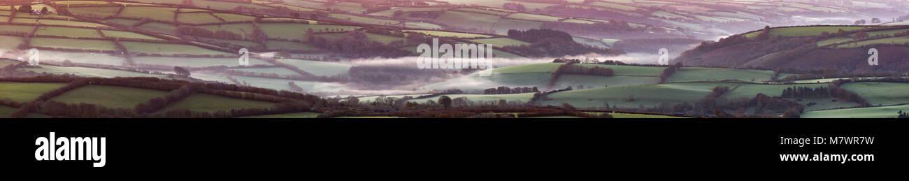 Les franges de Cutcombe de Exmoor Dunkery Beacon à l'aube, Somerset, England, UK Banque D'Images