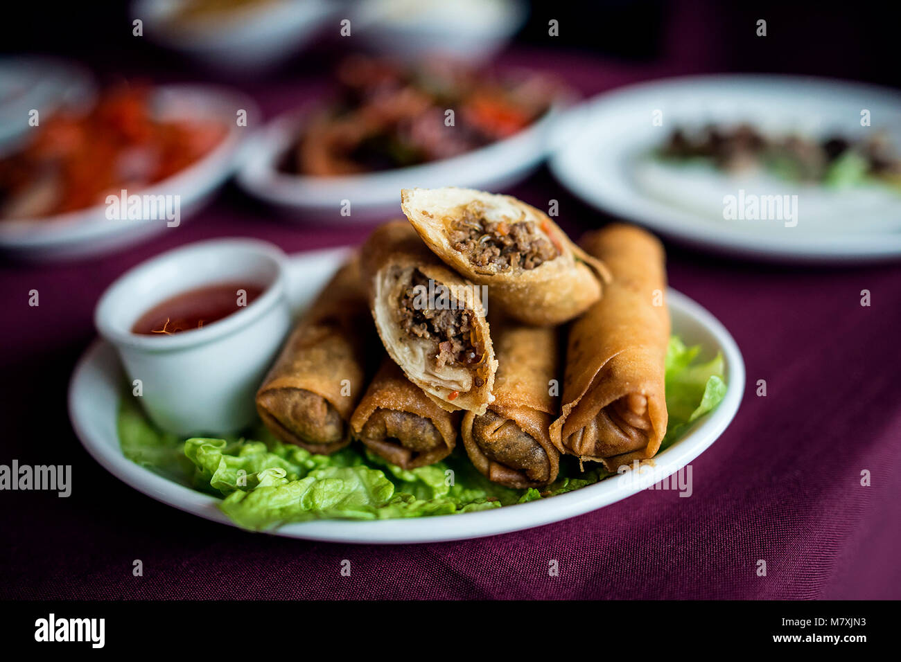 La nourriture de restaurant chinois Photo Stock