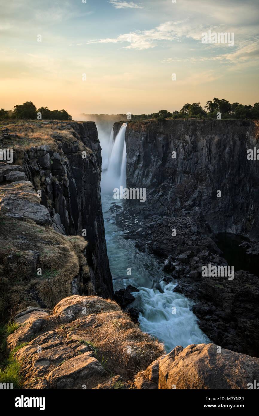 Victoria Falls au Zimbabwe Banque D'Images