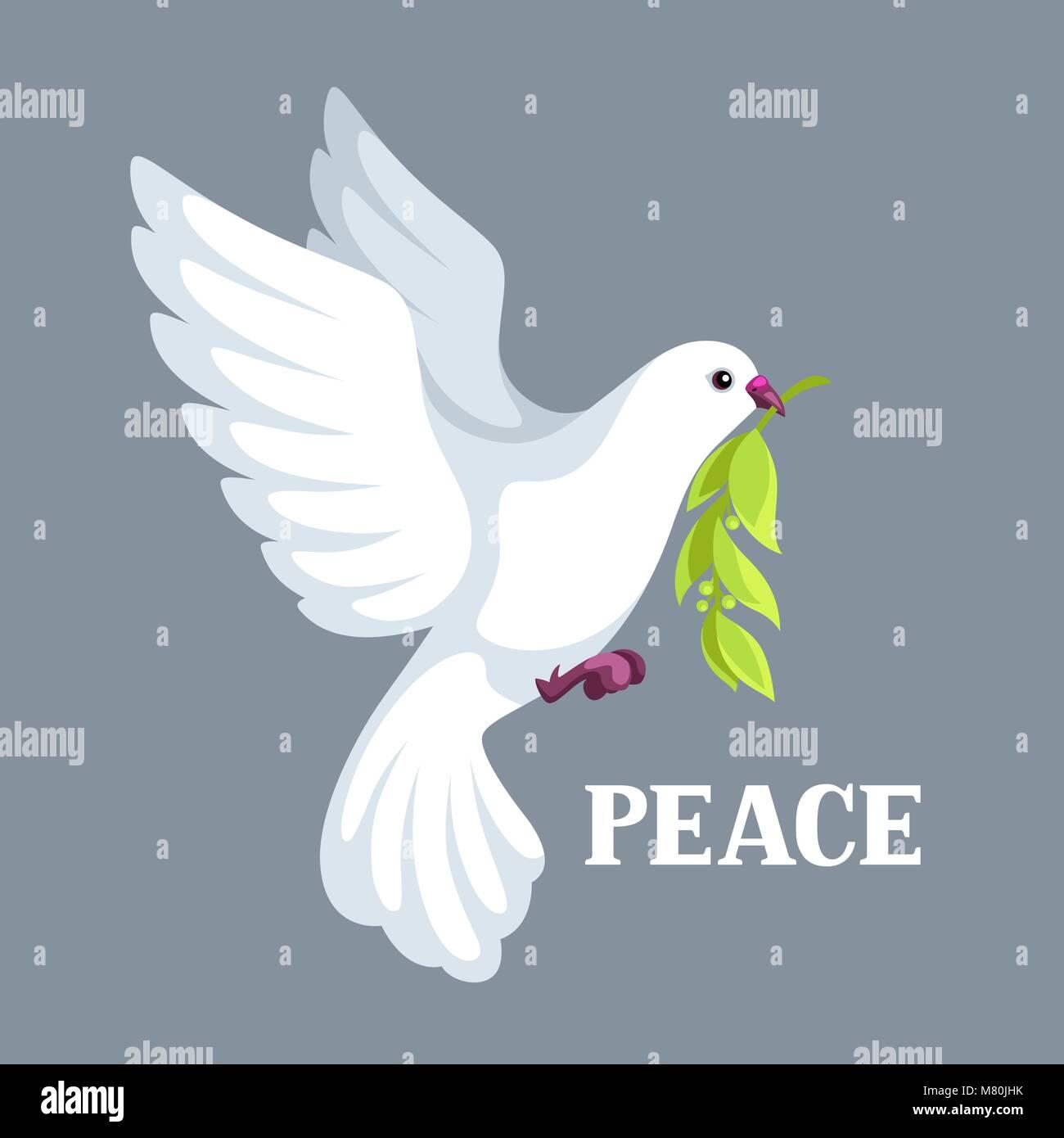 Colombe blanche de la paix porte olive branch vecteurs et illustration image vectorielle - Adresse mail reclamation blanche porte ...