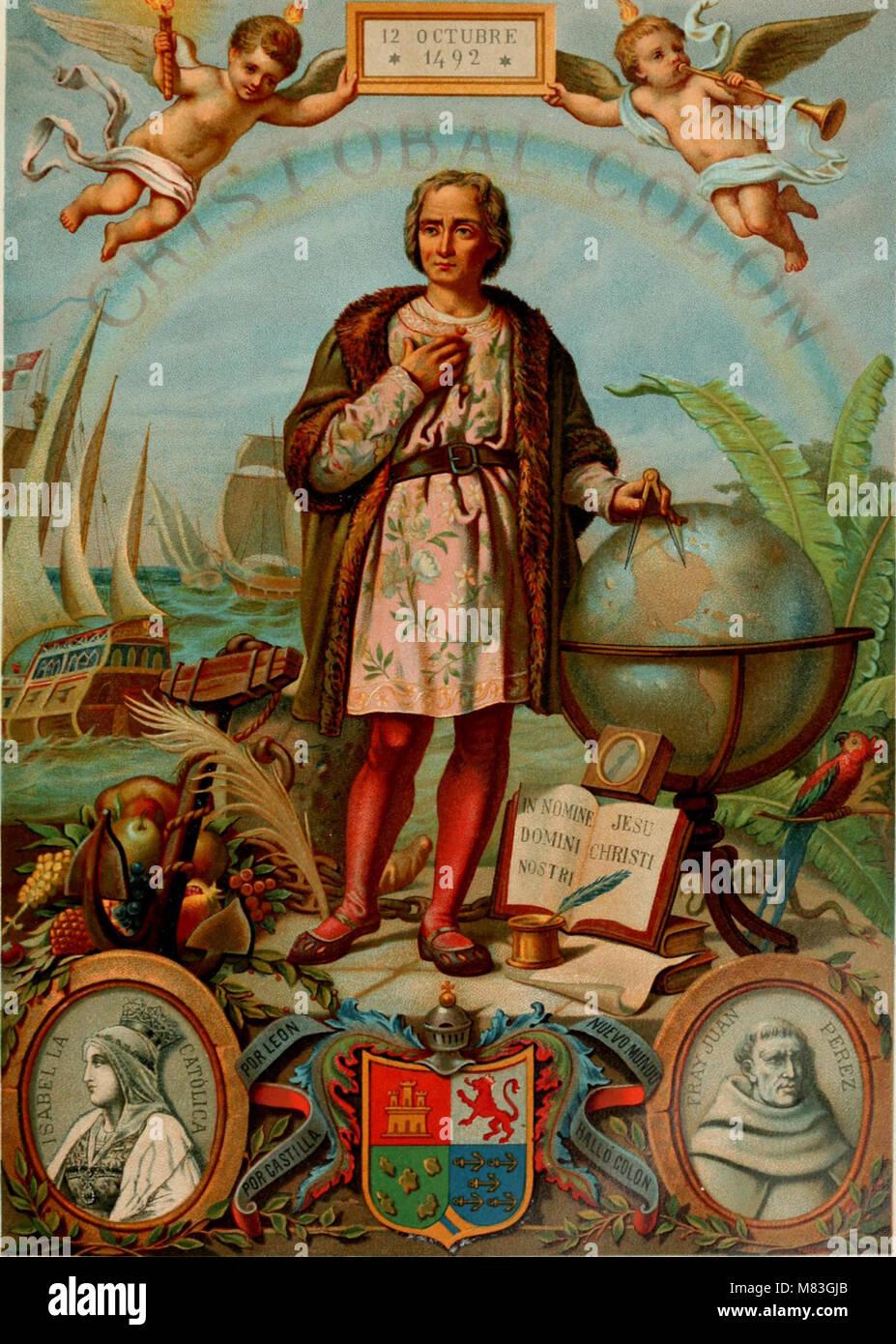 Cristobal Colon - su vida, sus viajes, sus descubrimientos (1891) (14798141123) Banque D'Images