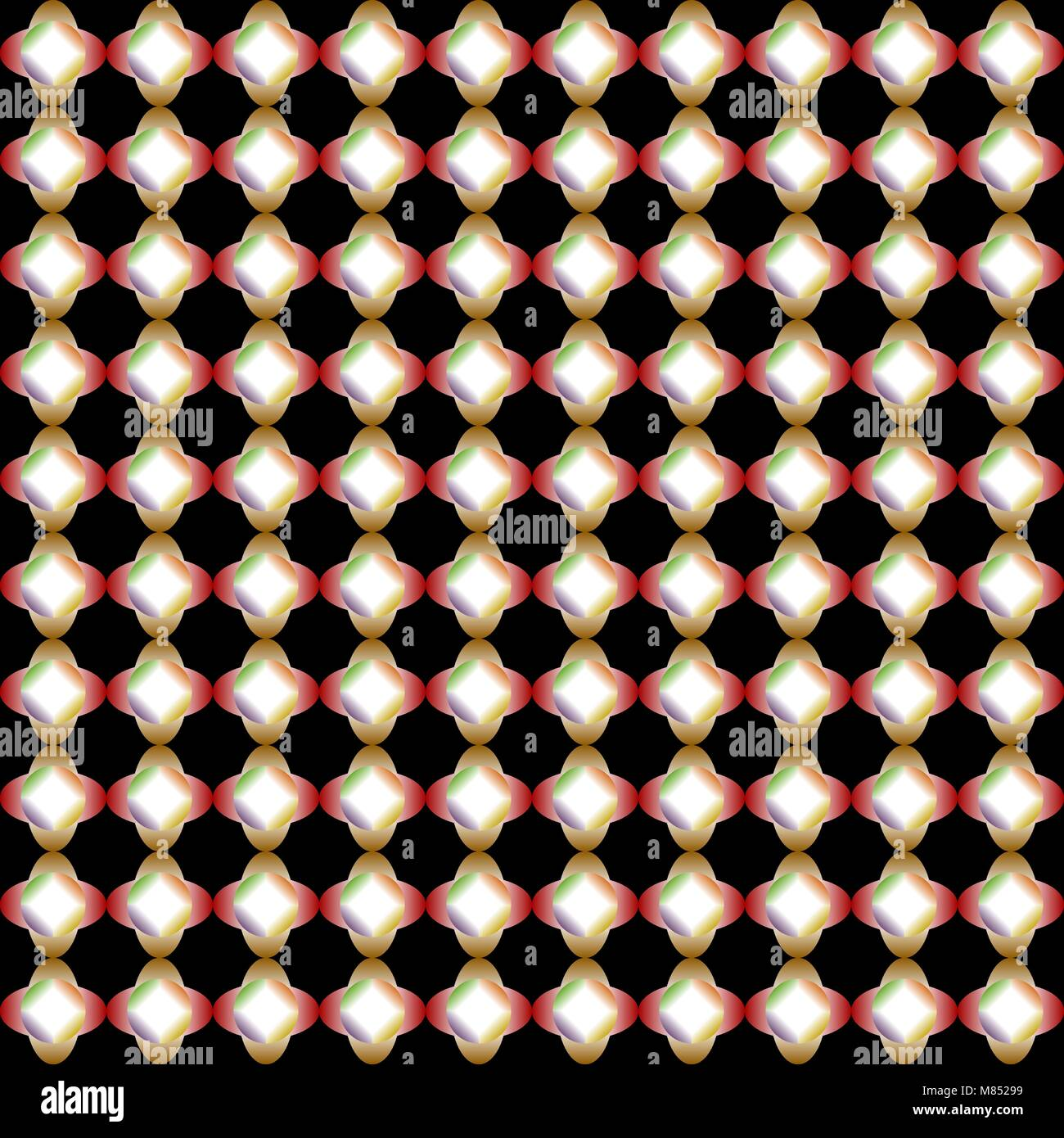 Abstract colorful gradient de circle et formes ellipse isolé sur fond noir. Vector illustration. Photo Stock