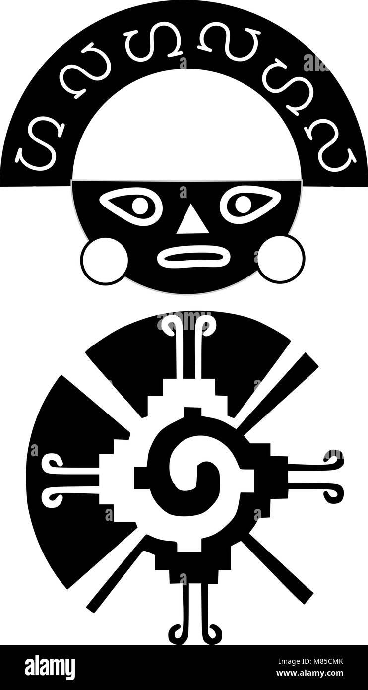 Symboles Du Tatouage Inca Et Maya Image Vectorielle Stock Alamy