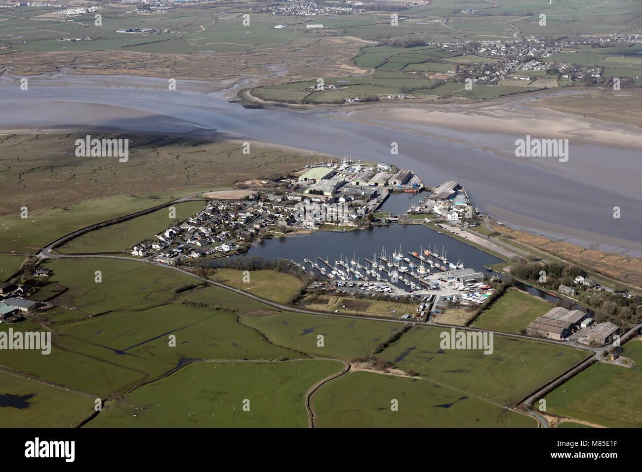 Vue aérienne du Bassin de Plaisance, Lancashire Glasson Photo Stock