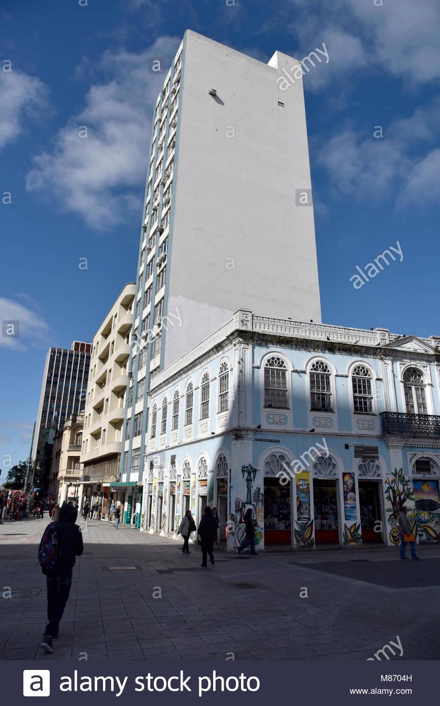 Commerce, Marques carré généreux, centre historique, ville, 2017, Curitiba, Parana, Brésil. Photo Stock