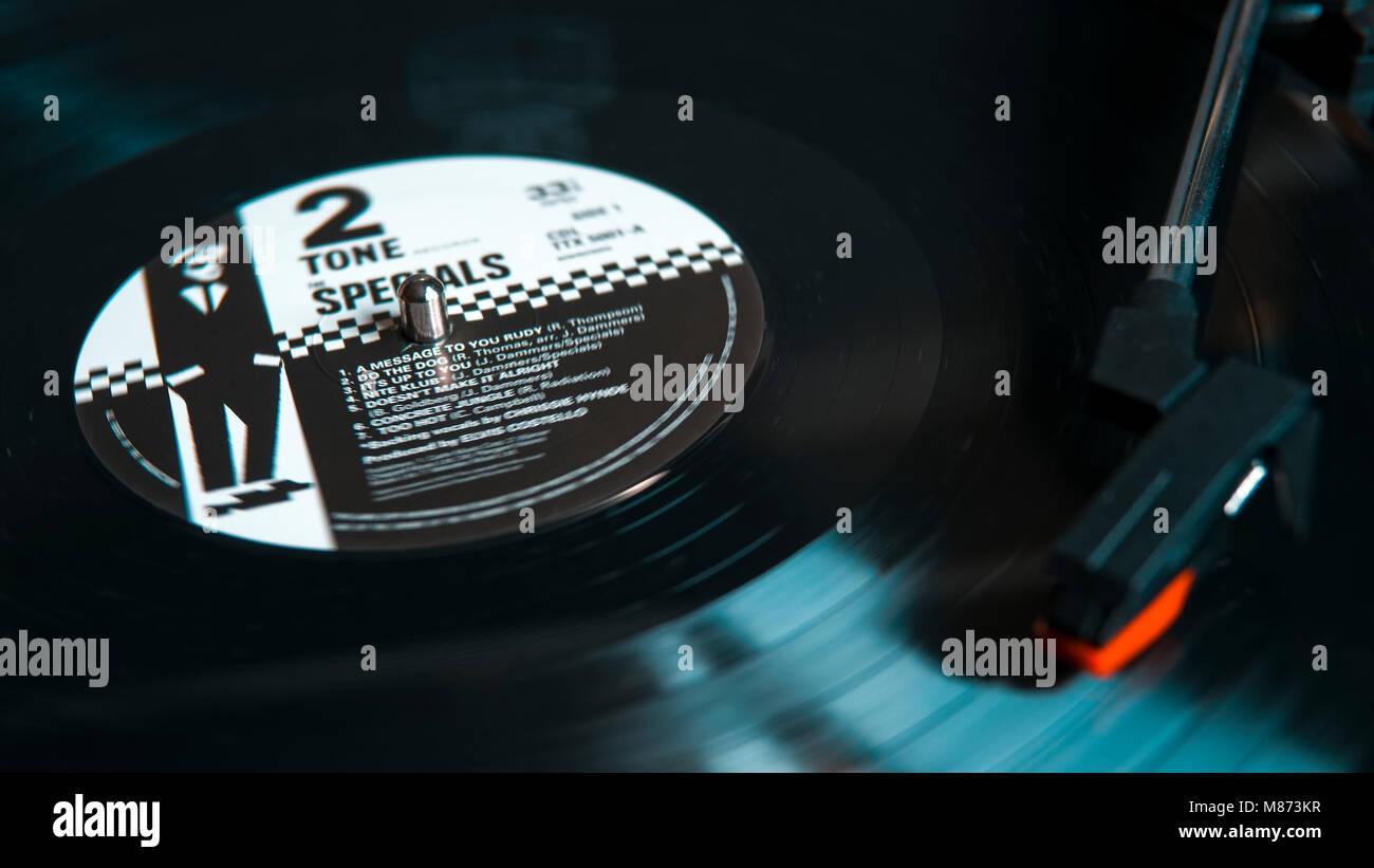 L'Album promotions, d'abord lancée en 1979 par le vinyle sur le label 2 Tone très à la hauteur Photo Stock