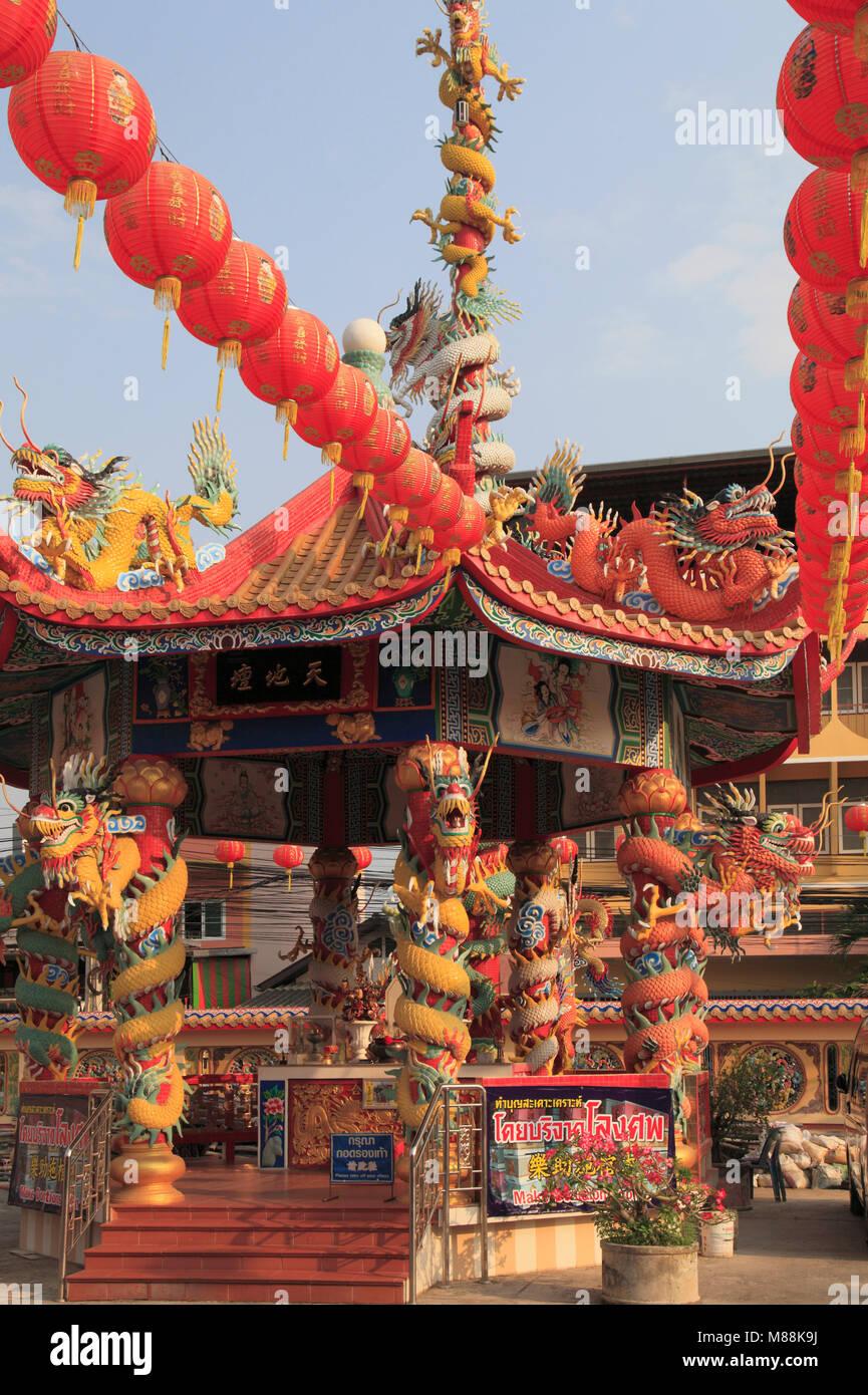 La Thaïlande, Chiang Mai, temple chinois, Photo Stock
