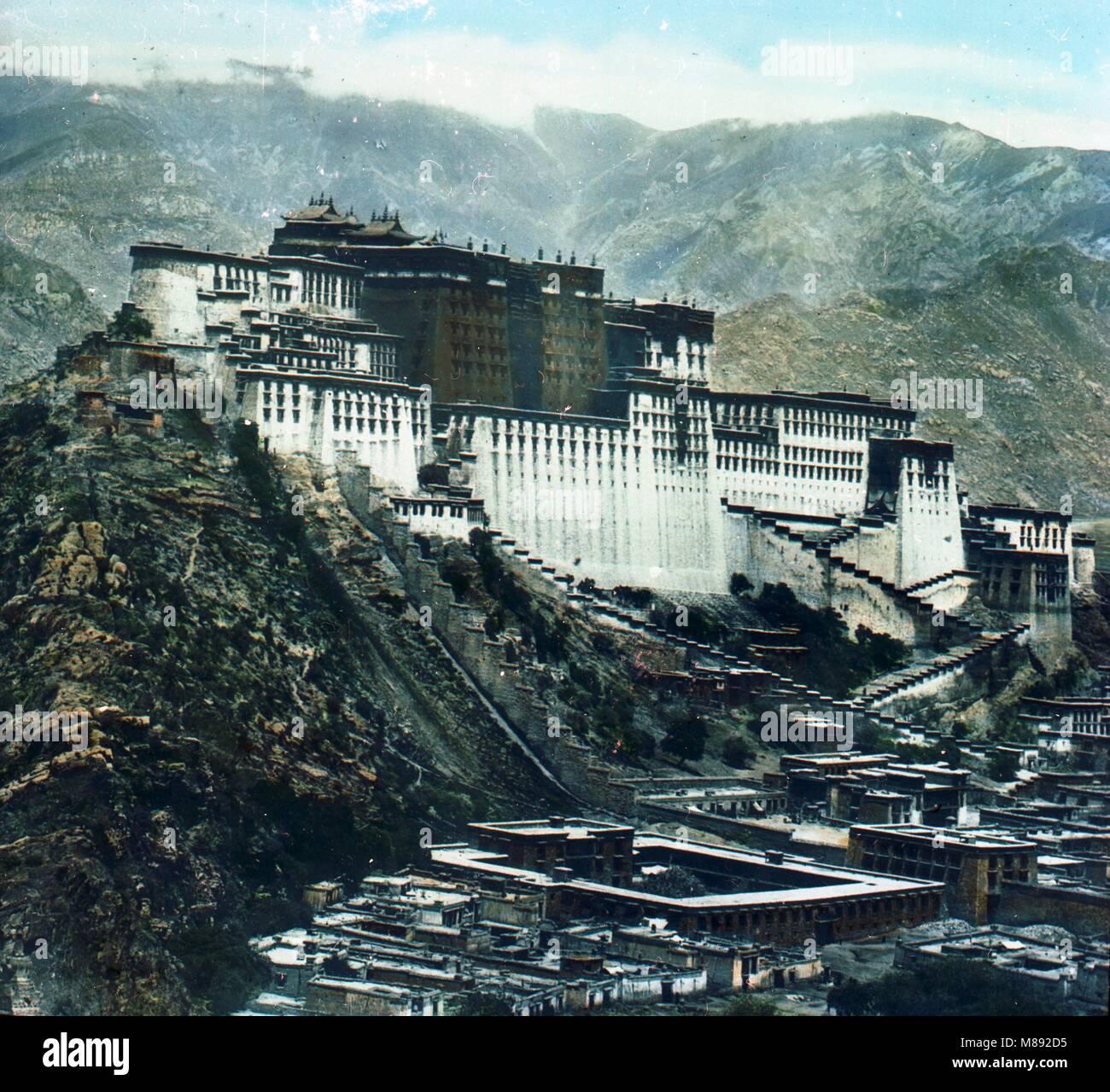 Monastère de Drepung, Tibet, ca 1900 Banque D'Images