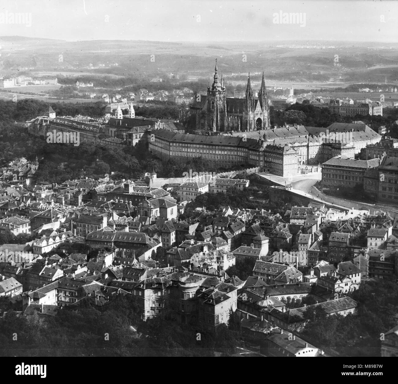 Prague, Tchécoslovaquie, par Burton Holmes, 1910 Banque D'Images