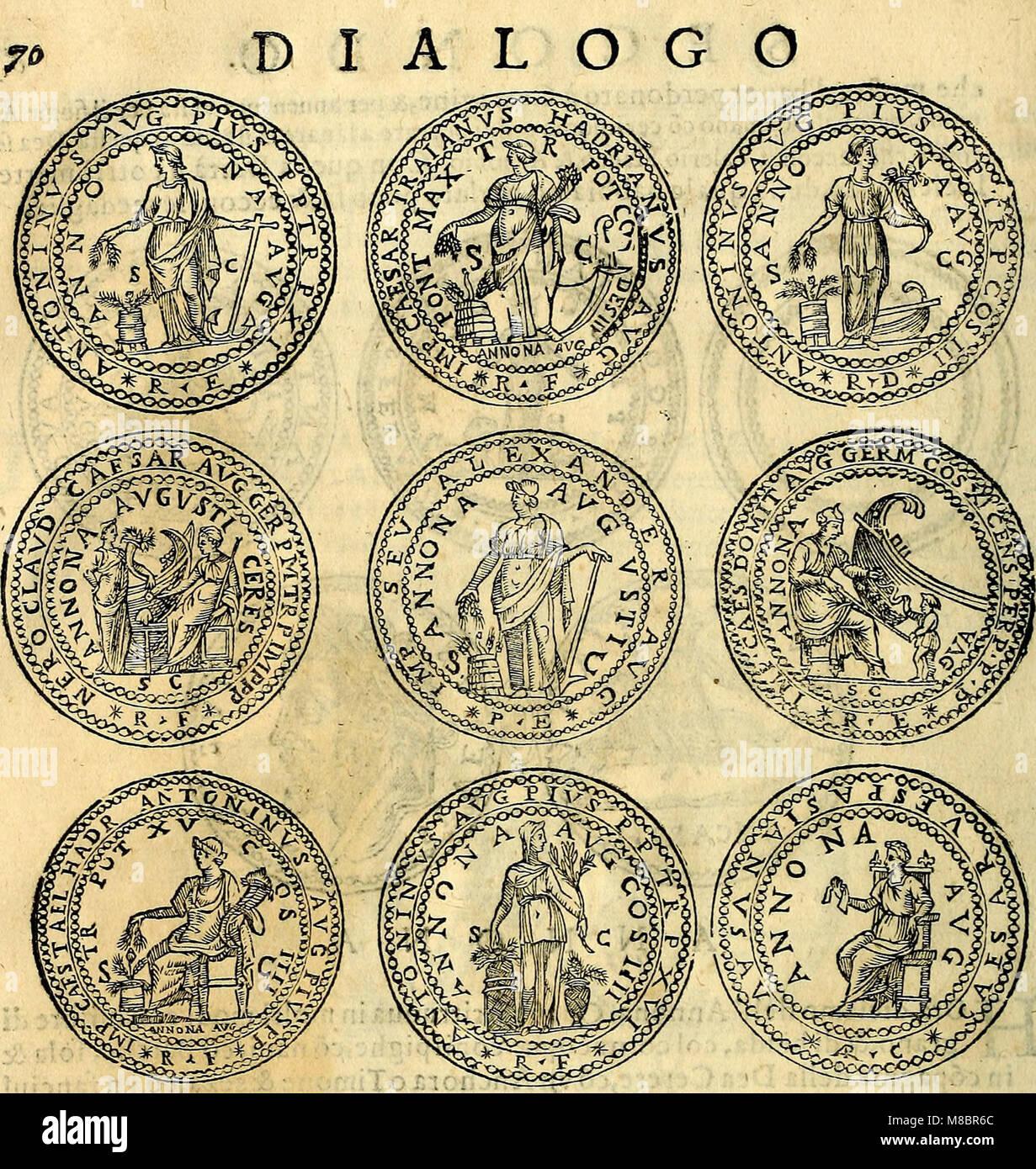 Dialoghi di don Antonio Agostini archivescovo di Taracona, intorno alle medaglie, inscrittioni, et altre antichità (1625) (14564146569) Banque D'Images