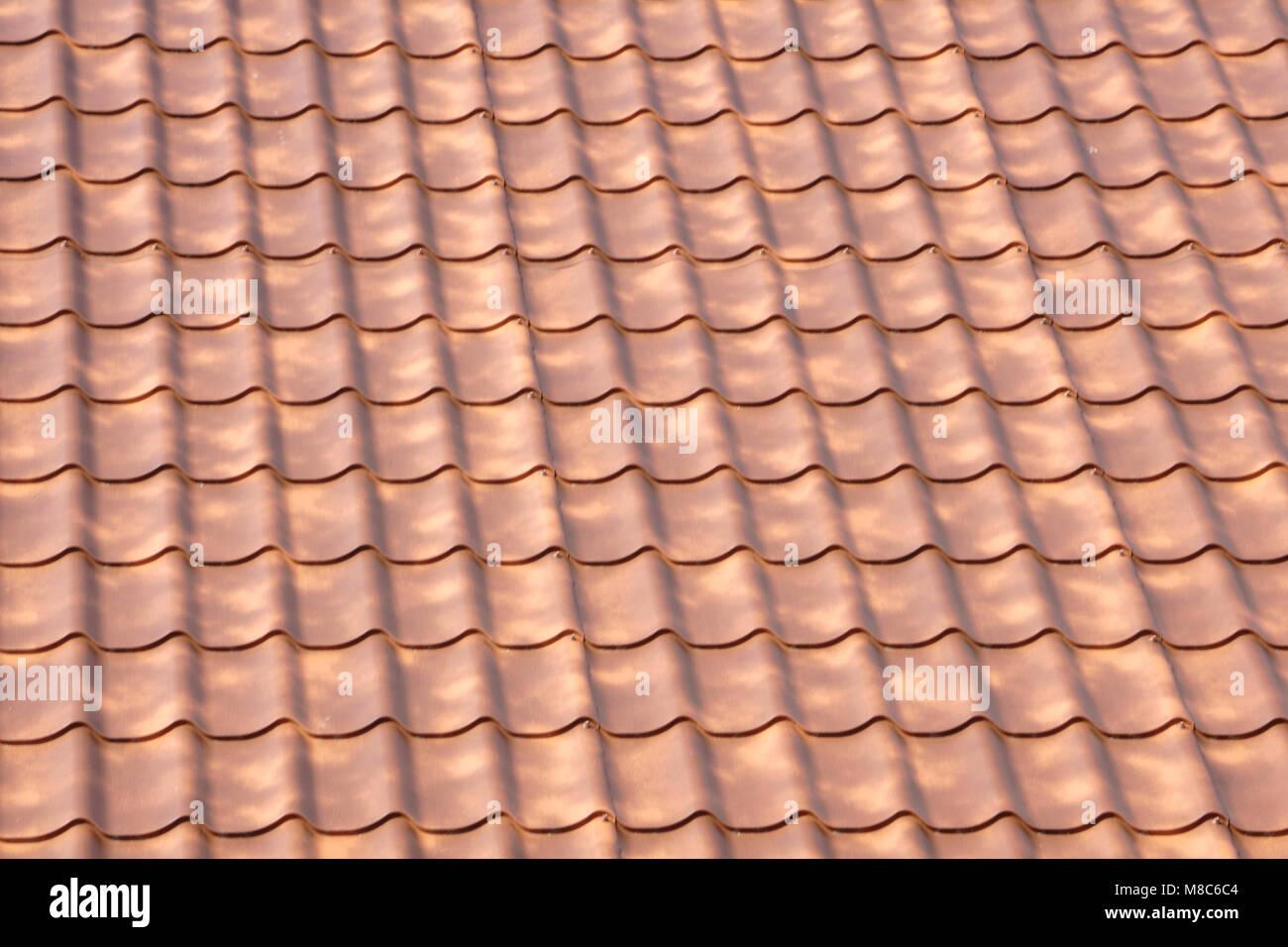 Texture Brun Ondule Toiture Photo Stock Alamy