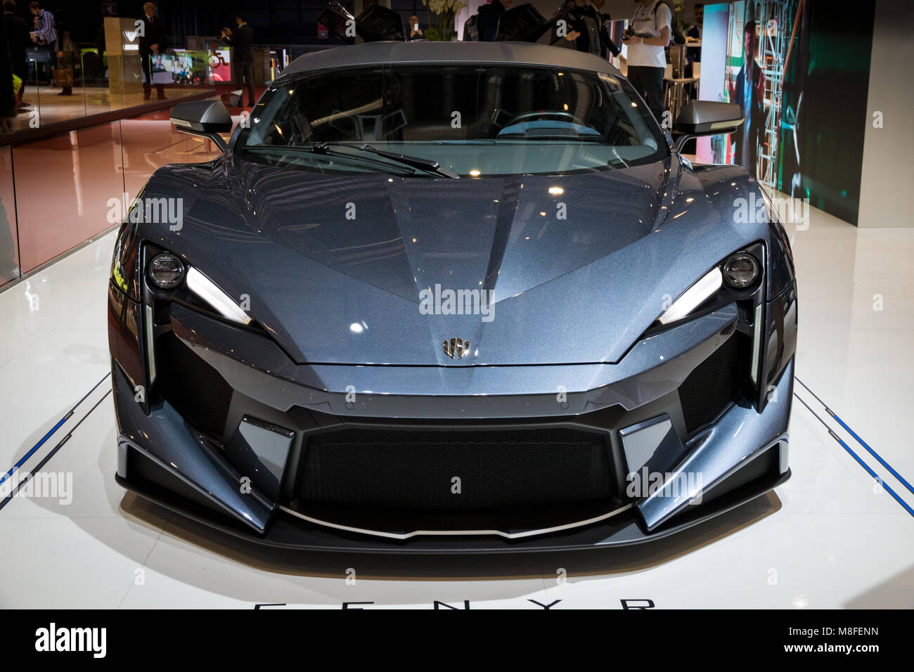gen ve suisse le 7 mars 2018 w motors voiture de sport supersport fenyr a pr sent la 88e. Black Bedroom Furniture Sets. Home Design Ideas