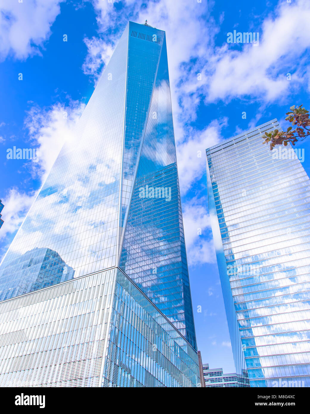 Une vue sur le World Trade Center à Manhattan. Un beau travail d'architecture et d'un émouvant Photo Stock