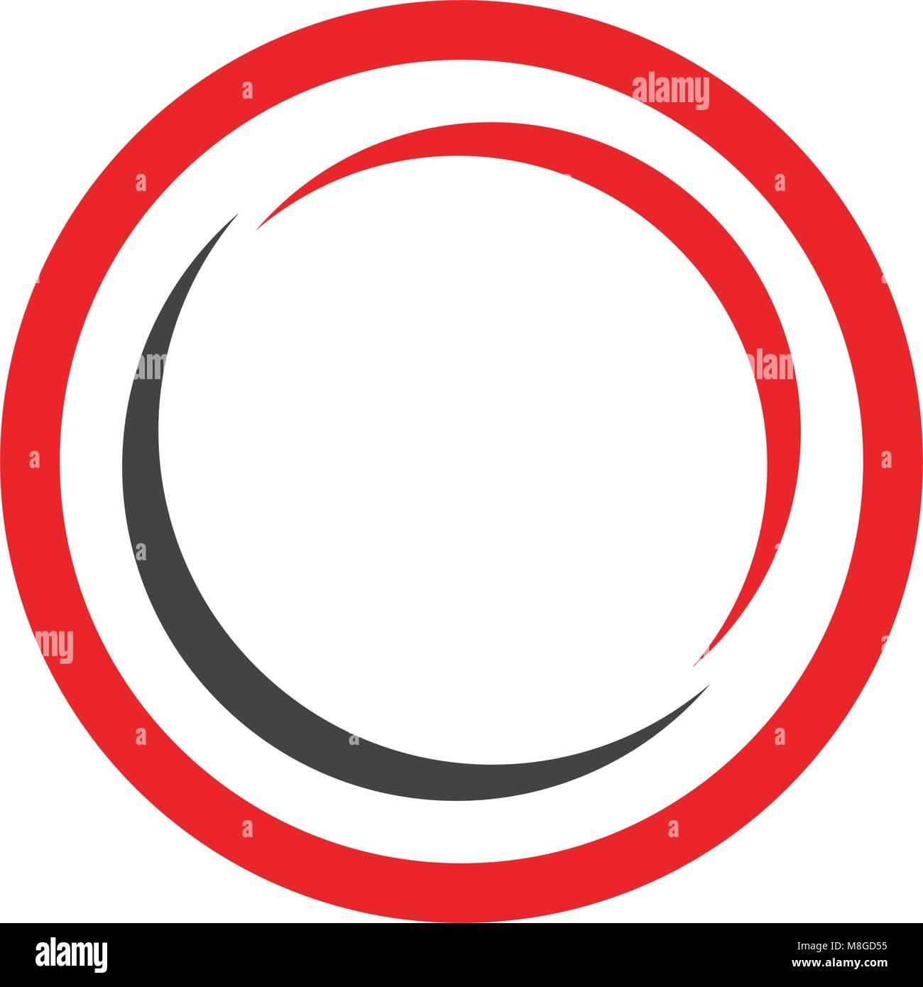 C Logo cercle et vecteur symbole Photo Stock