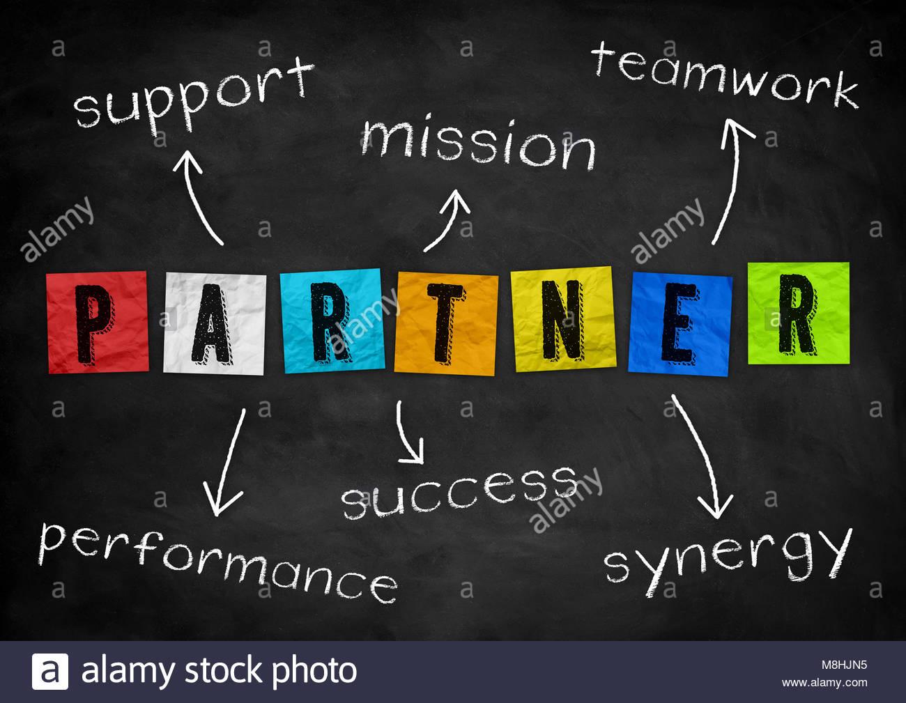 Partenaire - concept d'affaires Photo Stock
