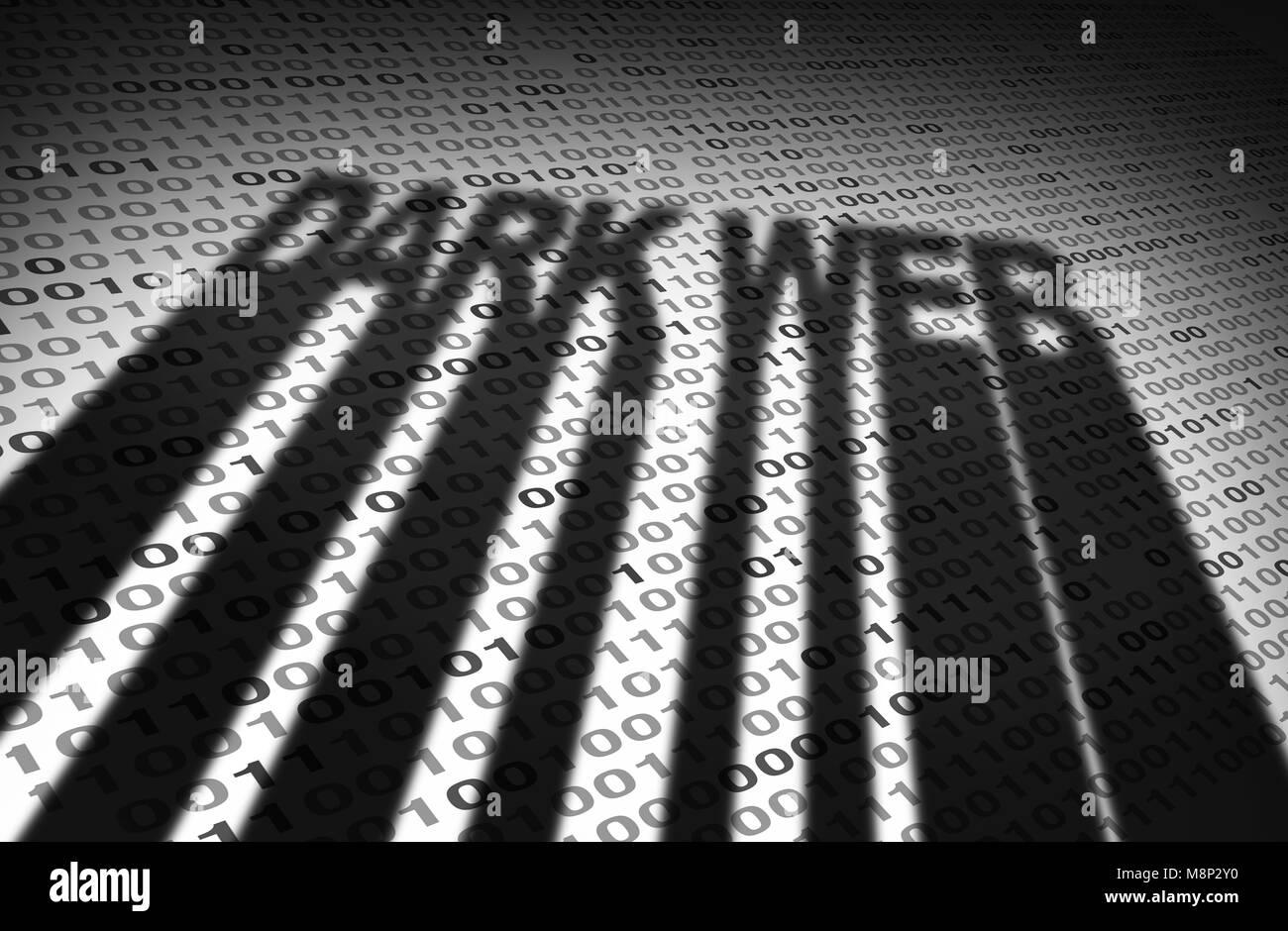 Dark web concept et darknet l'accès anonyme à un site web comme une technologie concept dans un style Photo Stock