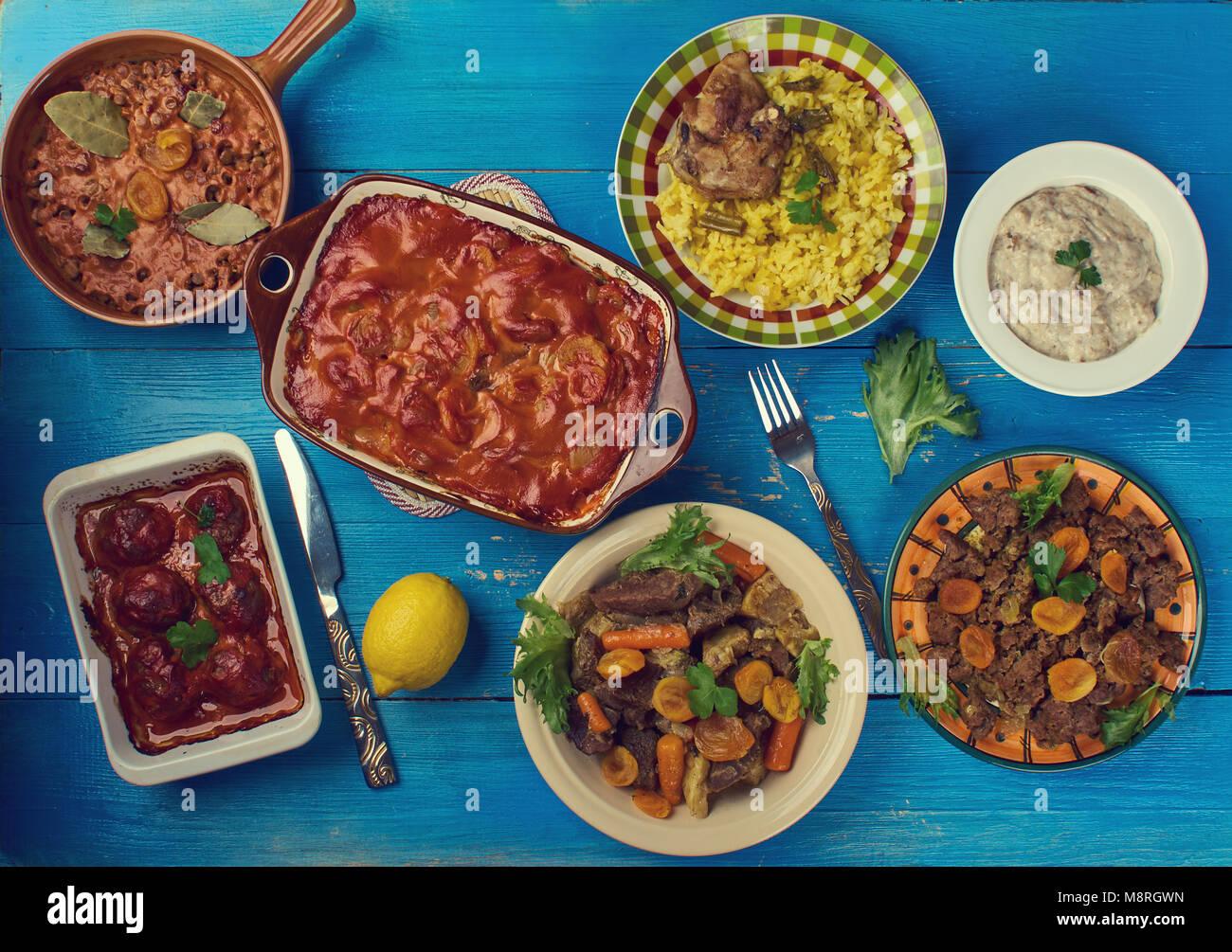 La Cuisine Sud Africaine Traditionnelle Un Assortiment De Plats