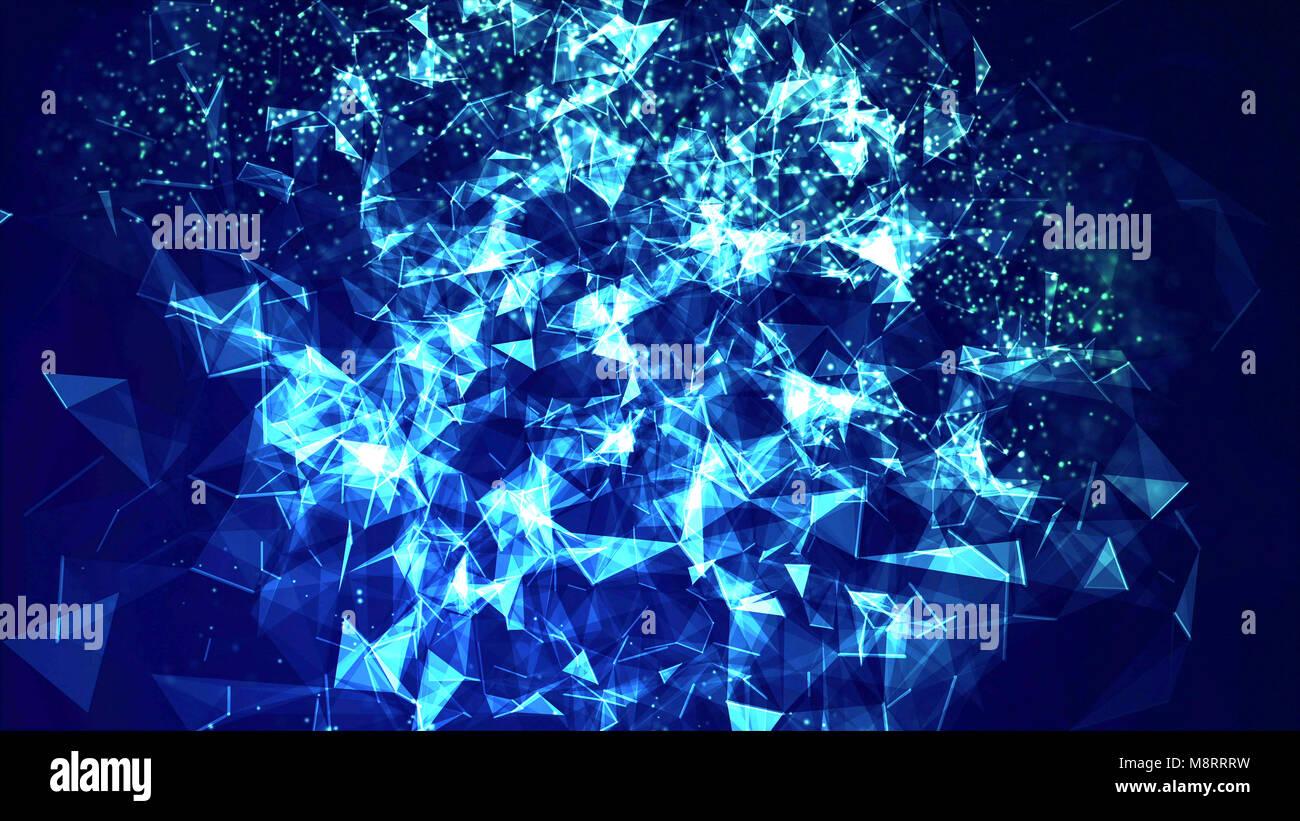 Close-up of blue abstract d'artifices Photo Stock