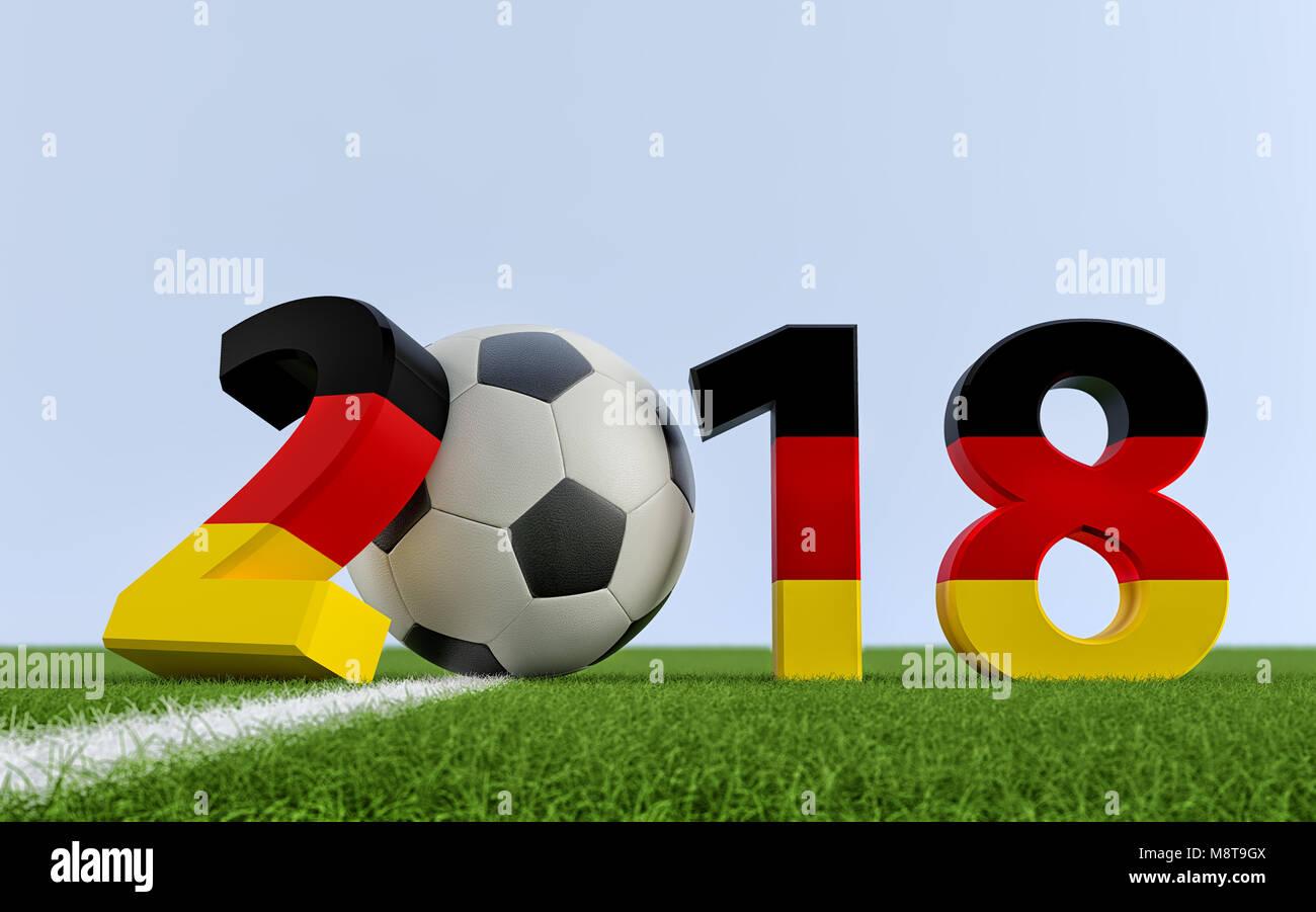 en 2018 les couleurs du drapeau allemand sur un terrain de soccer un ballon de foot. Black Bedroom Furniture Sets. Home Design Ideas