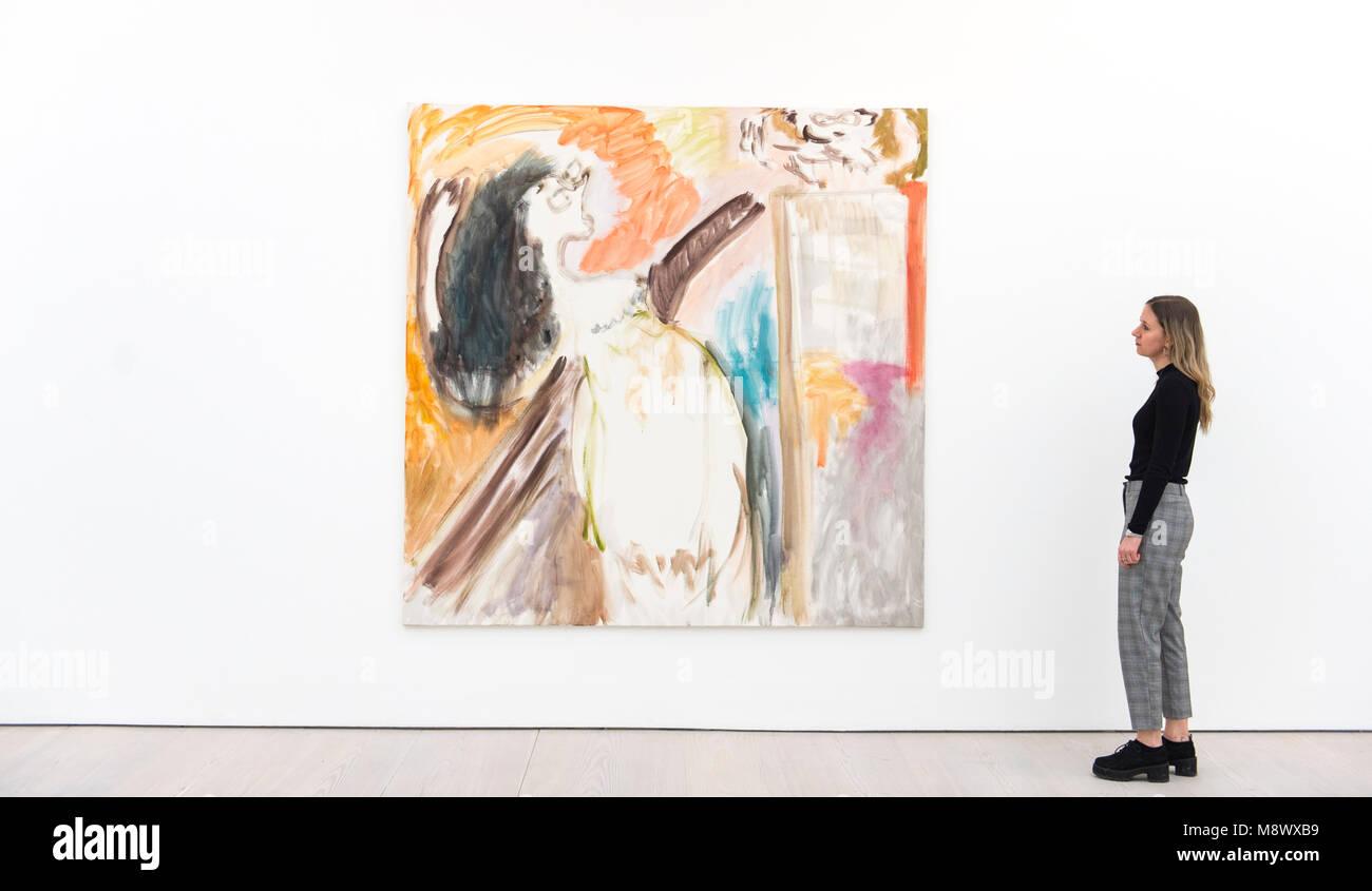 Saatchi Gallery, Londres, Royaume-Uni. 20 mars 2018. Les inconnues connues présente une sélection internationale de 17 artistes contemporains, nés entre 1966 et 1990, à partir de la collection de la Saatchi Gallery. Le titre fait référence à la situation des artistes dans le monde artistique dominant, tandis que le groupe est en grande partie inconnue, leurs pratiques respectives sont admirés par leurs pairs et artistique considéré comme pionnier. Photo: Œuvres de Tamuna Sirbiladze. Credit: Malcolm Park/Alamy Live News. Banque D'Images