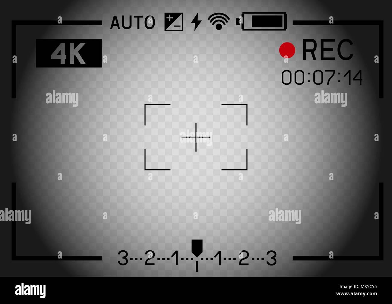 La Resolution 4k Camera Video Viseur Rec Aperture Sur Trou
