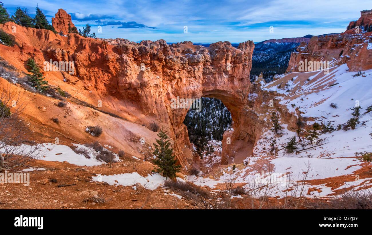 Bryce Canyon, Utah, pont naturel Photo Stock