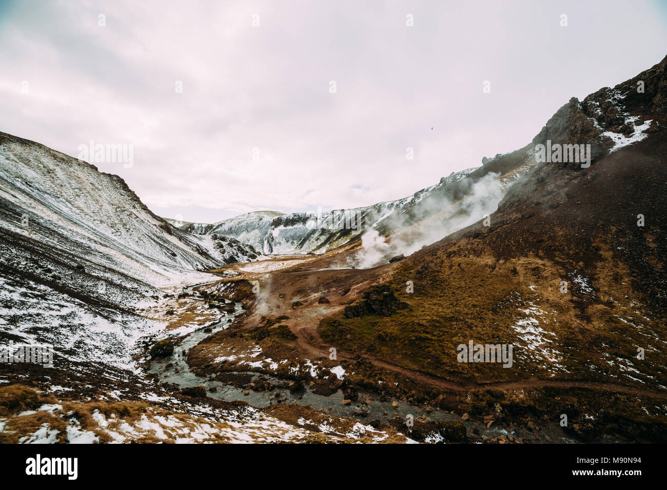 Fumeurs mountain en Islande Photo Stock