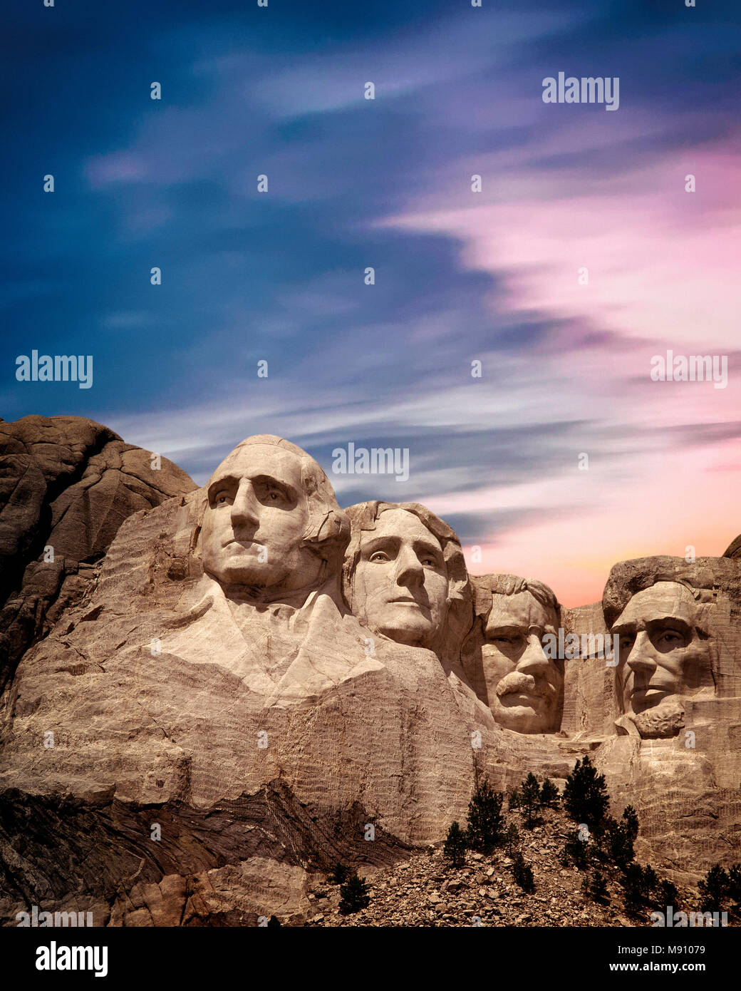 USA - DAKOTA DU SUD: Mont Rushmore National Memorial Photo Stock