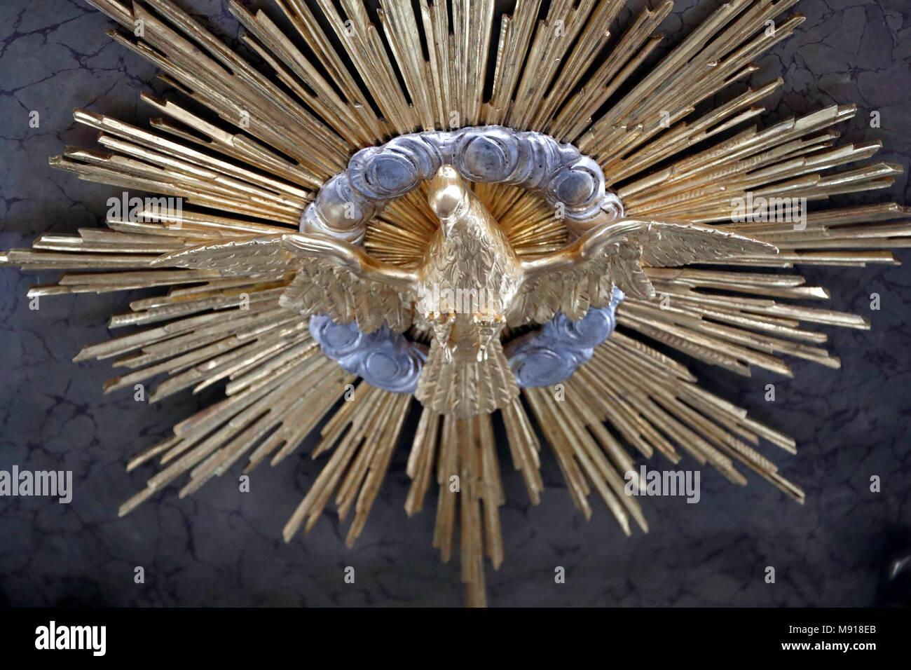 La colombe de l'Esprit Saint. Fribourg. La Suisse. Photo Stock