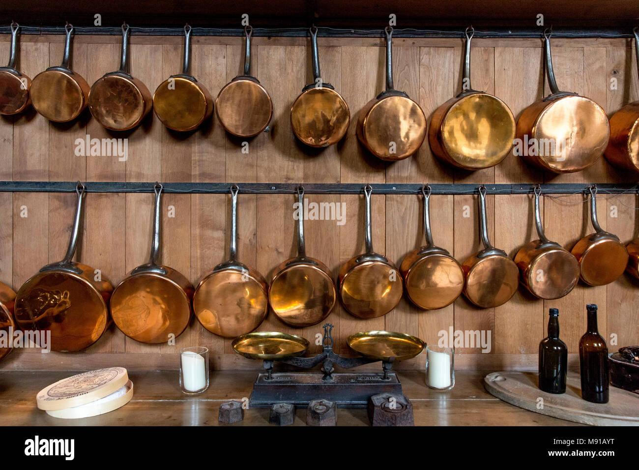 Vaux-le-vicomte. Cuisine. La France. Photo Stock