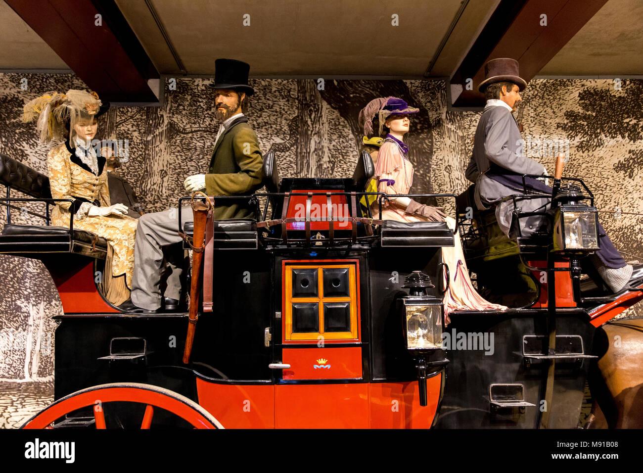 Vaux-le-vicomte. Faites glisser du 19e siècle. La France. Photo Stock