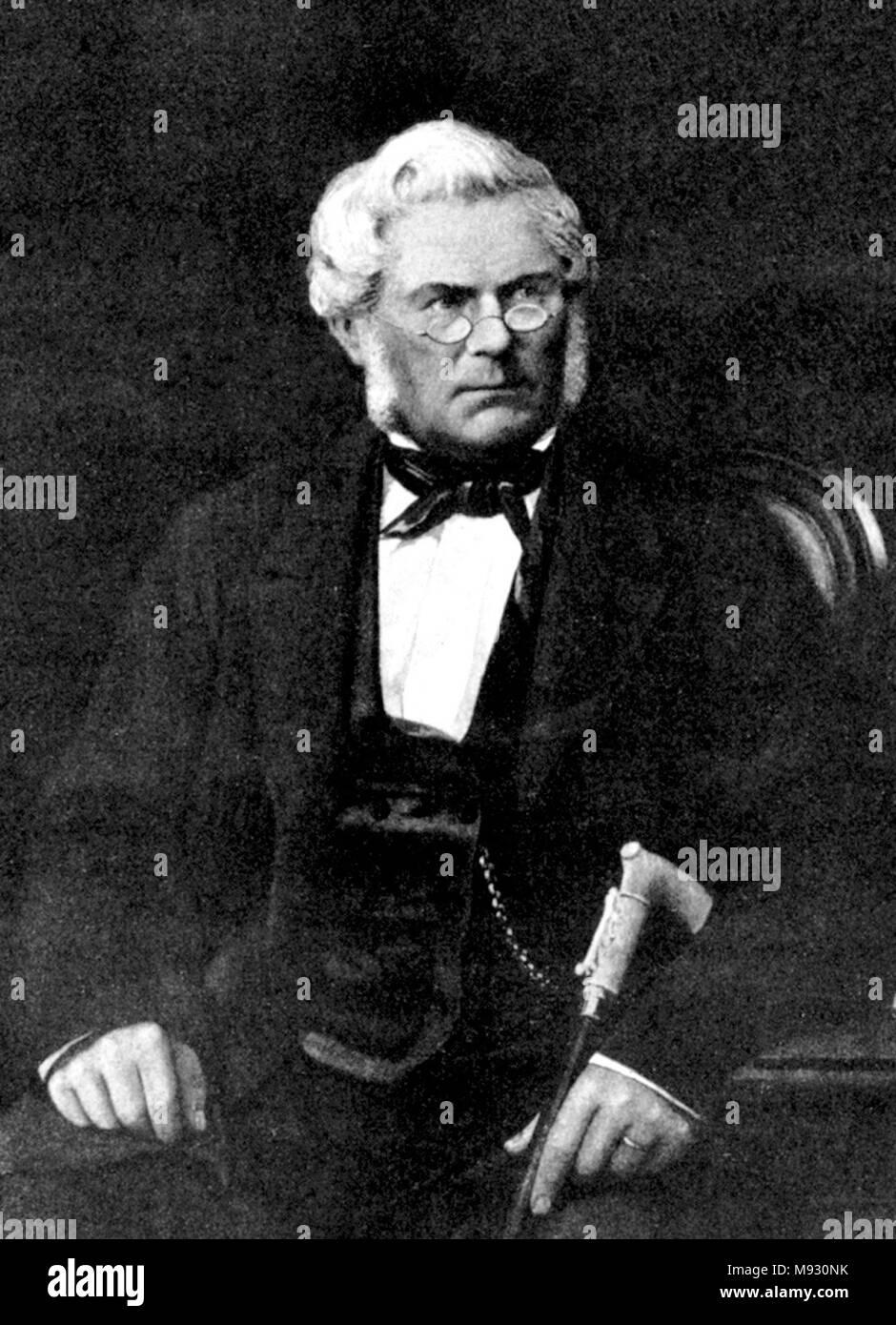 Immanuel Nobel le jeune (1801 - 1872) ingénieur suédois, architecte, inventeur et industriel. Photo Stock