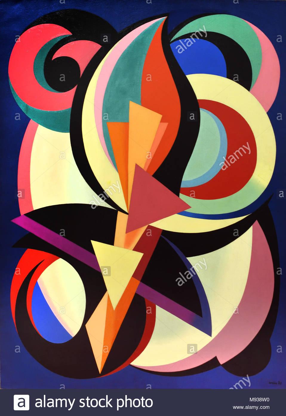 Composition,1939, Auguste Herbin, 1883-1960, France, Français, Photo Stock