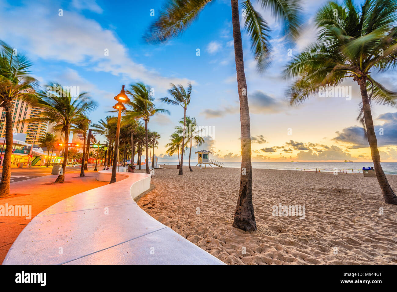 Ft. Lauderdale Beach, Florida, USA à Las Olas Blvd. Photo Stock