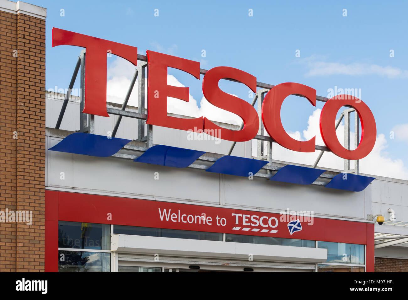 Signe de Tesco Photo Stock