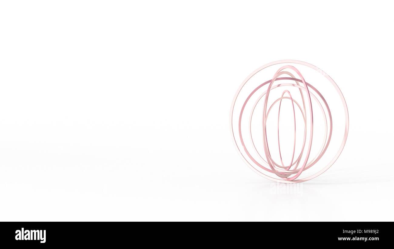 Bagues d'équilibrage abstrait, rendu 3D Photo Stock