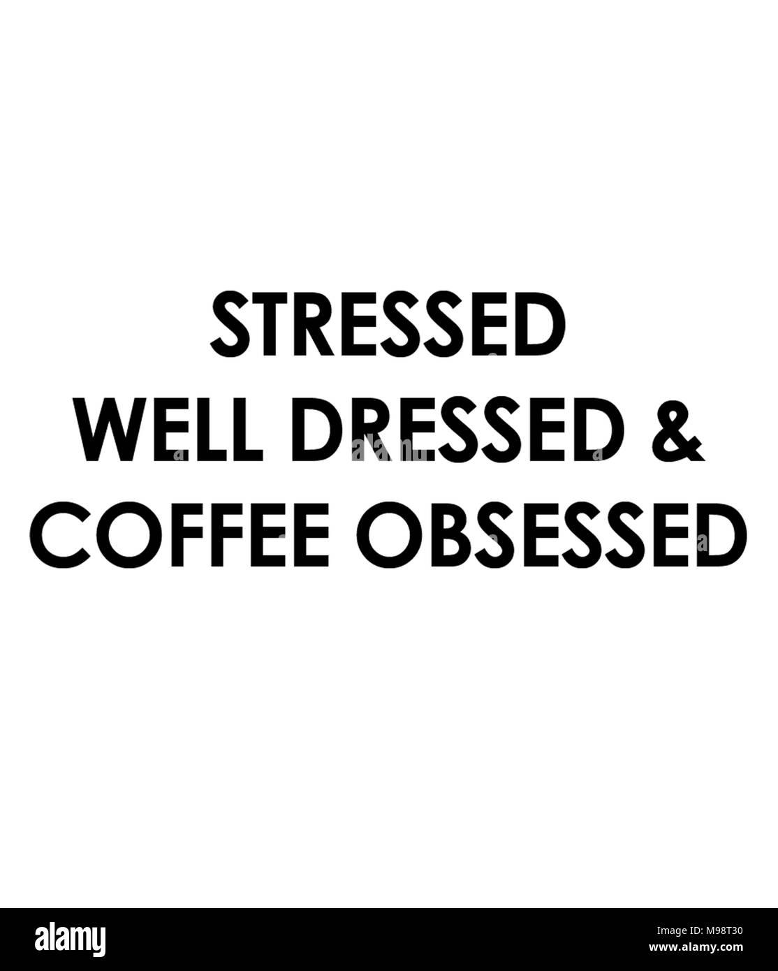 A souligné bien habillé et café obsédé Photo Stock