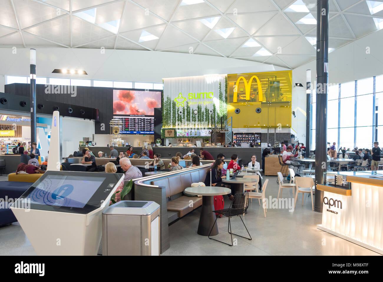 Salle d'embarquement à l'aéroport de Sydney Kingsford Smith, Mascot, Sydney, New South Wales, Australia Photo Stock