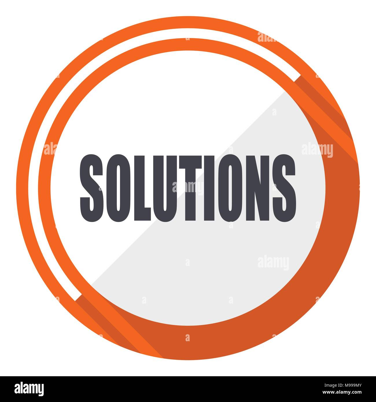 Conception web solutions télévision vecteur icône. Orange ronde bouton internet isolé sur fond blanc. Illustration de Vecteur