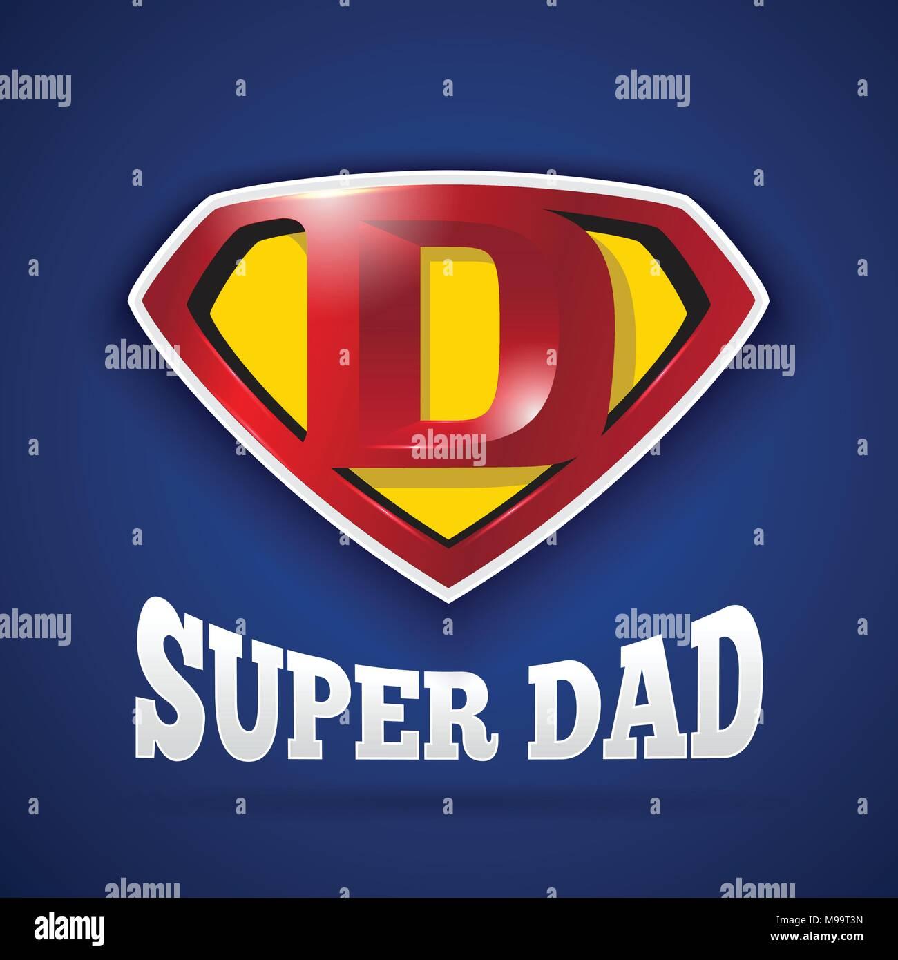 Super Papa Logo Design Pour La Fête Des Pères Lettre D Logo