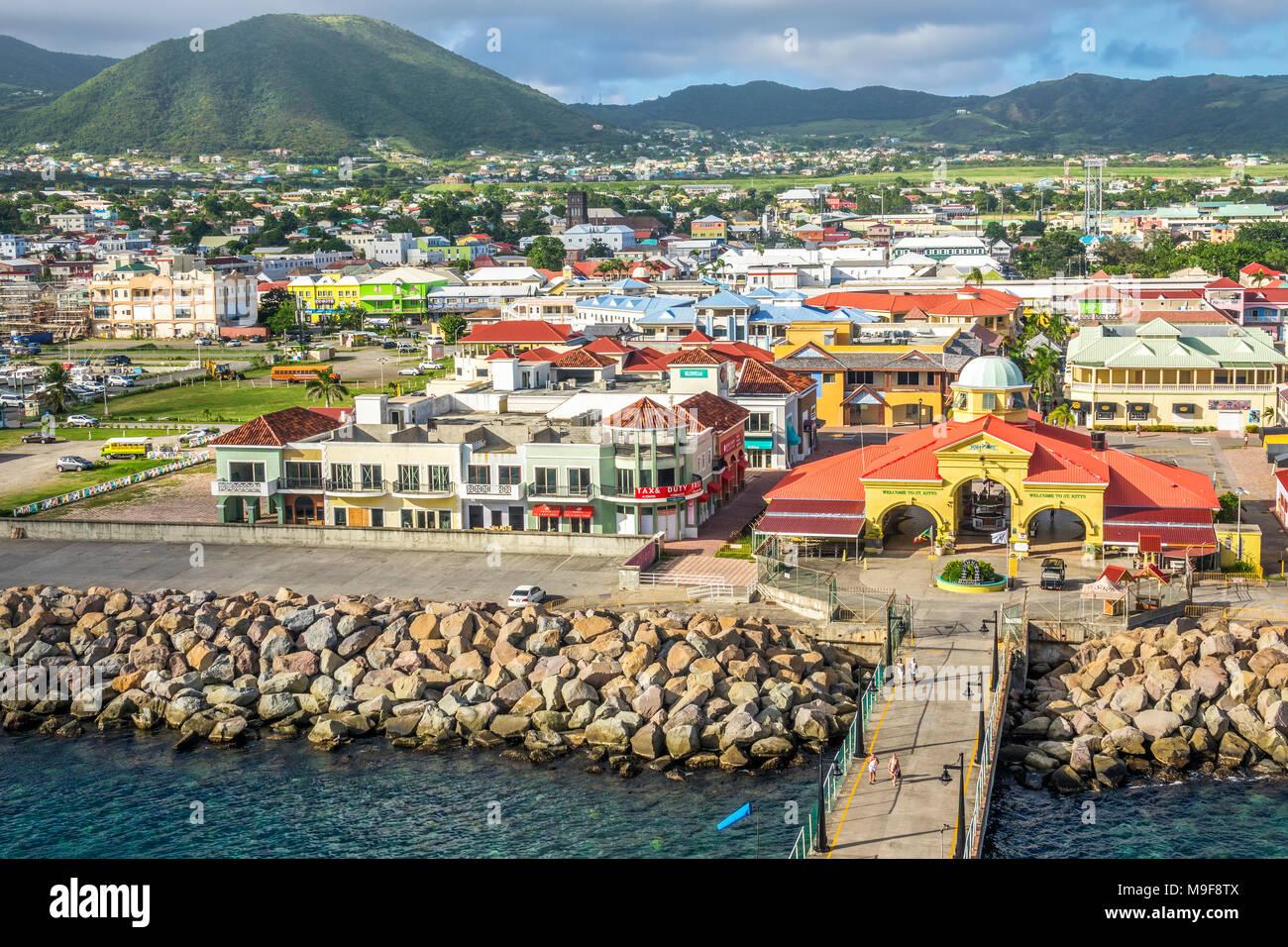 Le Port de Zante Basseterre, Saint Kitts, West Indies Banque D'Images