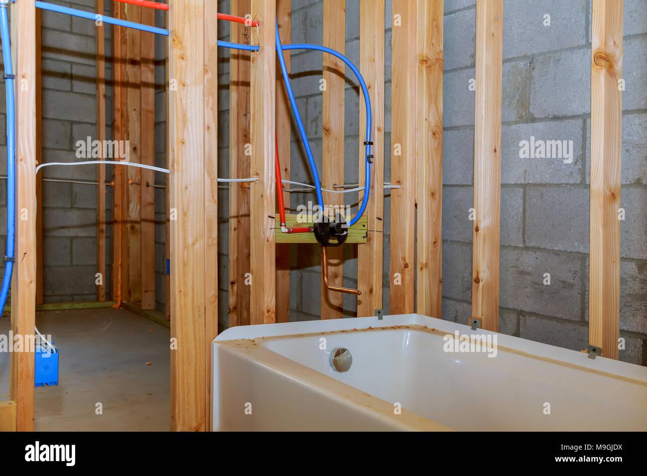 Plomberie Salle De Bain Sous Sol salle de bains remodeler montrant sous plancher plomberie