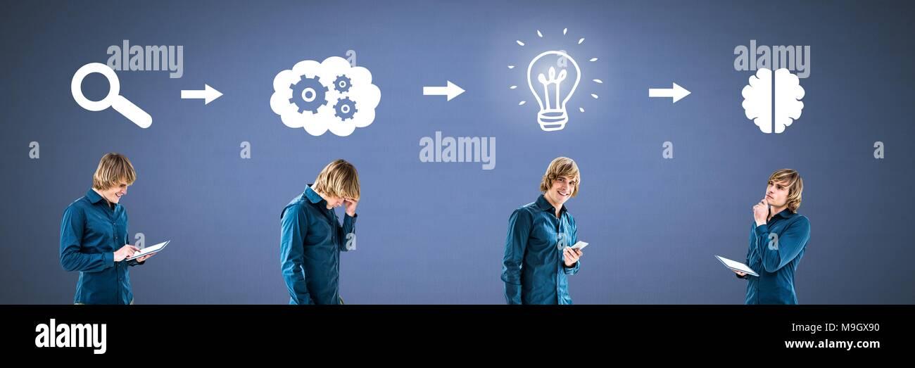 La Pensee De L Homme Dans L Ordre Des Idees Et Trouver Des Icones De Processus Photo Stock Alamy