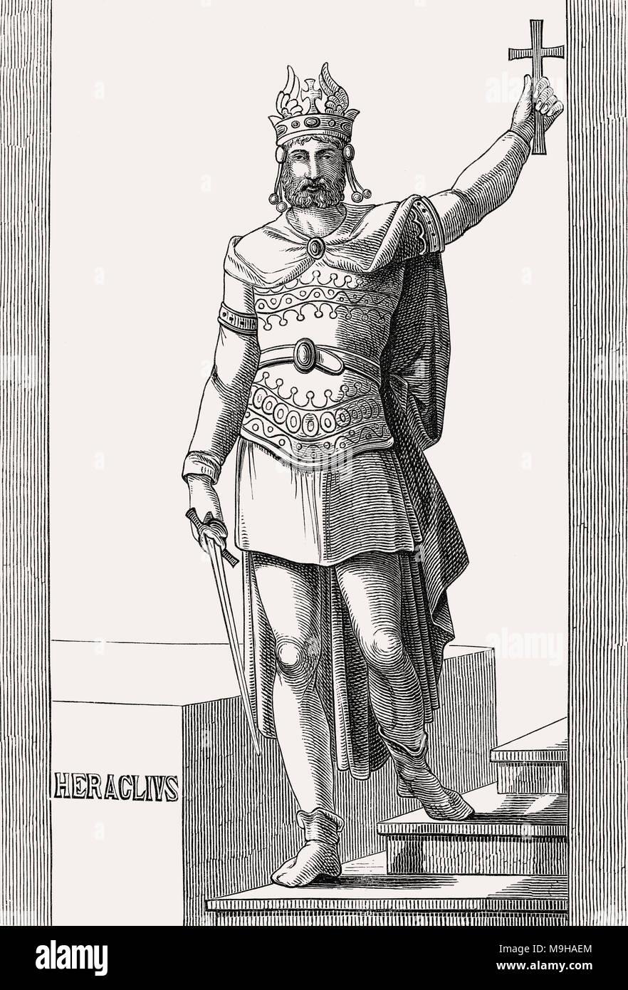 Héraclius, l'empereur romain de 610 à 641 Photo Stock